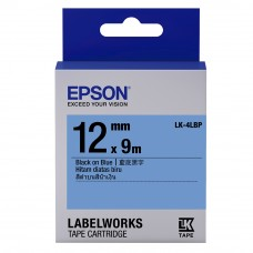 Epson Label Cartridge 12mm Black on Blue Tape (Pastel)