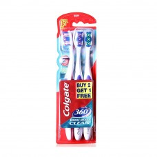 Colgate 360 Whole Mouth Clean Toothbrush Value Pack Soft  x 3 pcs