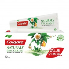 Colgate Naturals Gum Comfort (Tea Tree Oil & Aloe Vera) Toothpaste Valuepack 120g x 2