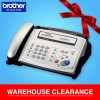 Brother FAX-236S Thermal Fax Machine with Phone Headset (Brother Fax Machine All-in-One Facsimile Fax Printer) - 10 Sheets ADF, 100 Locations Speed Dial, 15 Sec. Transmission Speed, 2.9KG (Brother 236, FAX236, FAX-236, FAX 236, FAX-236S, FAX-236SE)